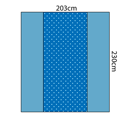 Back Table Cover - Reinforced Heavy Duty 203cm x 230cm