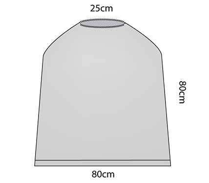 Leadscreen Cover with Elastic (25cm)