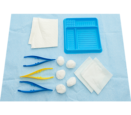 Basic Dressing Pack with Non-Woven Swabs and Balls Dispenser