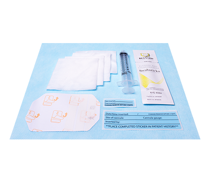 IV Starter Kit with IV Cannulation Site and Record Labels