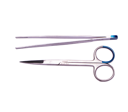 Suture Removal Pack with Iris Scissors and Dressing Forceps