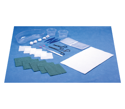 CVC Pack with Plastic Drape  and Surgical Blade