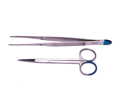 Suture Removal Pack with Iris Scissors and McIndoe Tissue Forceps