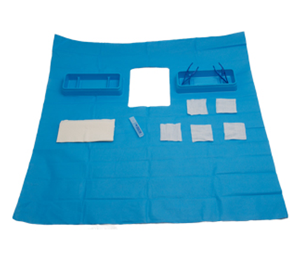 Catheter Procedure Pack with Crepe Drape
