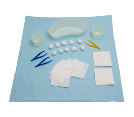 Basic Dressing Pack with Kidney Dish and Gallipot Peel Pack