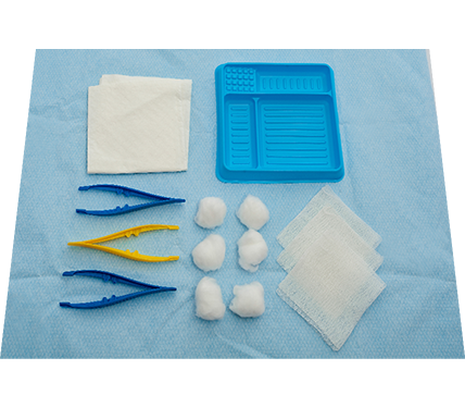 Basic Dressing Pack with Gauze and Cotton Inverted