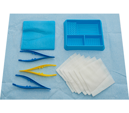 Basic Dressing Pack with Non Woven Swabs and Laminated Towel