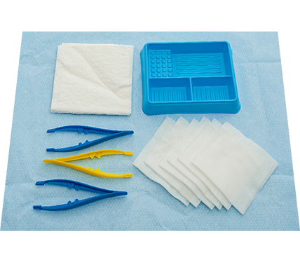 Basic Dressing Pack with Non-Woven Swabs Peel Pack