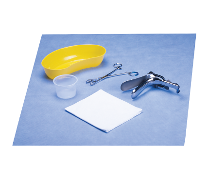 Vaginal Examination Pack with Grave Gynaecology Speculum and Rampley Forceps