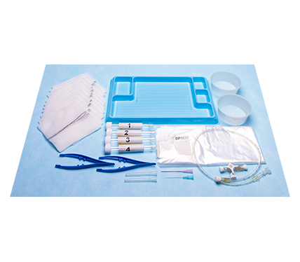 Lumbar Puncture Kit with Specimen Tubes Syringe Needles Plastic Drape and Spinal Manometer