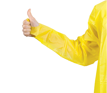 Thumb Secure Impervious Isolation Gown-Yellow