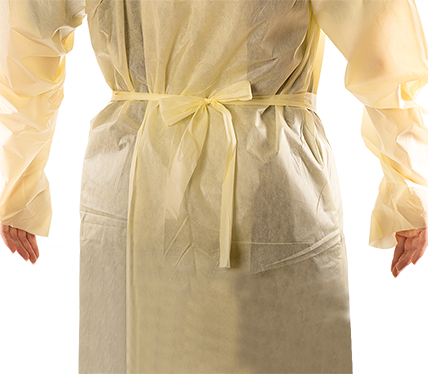 Yellow Thumb Secure Liteback Protective Gown
