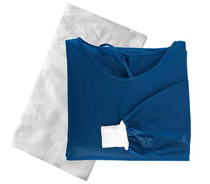 Minor Procedure Gown pack with MediClean Towel