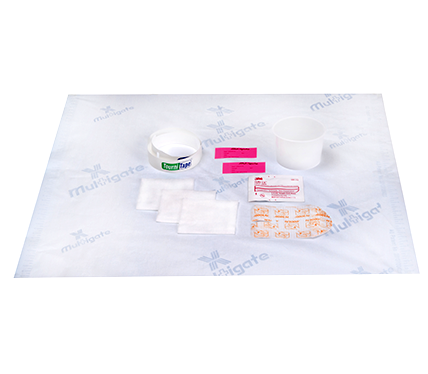 IV Starter Kit with Paper Tourniquet and IV 3000 Dressing