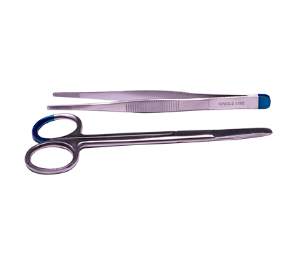 Suture Pack with Wagner Scissors and Dressing Forceps