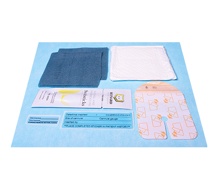 IV Start Pack with IV Cannulation Site and Record Labels IV 3000 Dressing and Swabstick