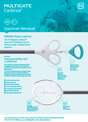 Cadence Specimen Retrieval Device Flyer